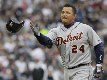 Miguel Cabrera's 0-for-18 slump is the second-longest of his career. (AP)