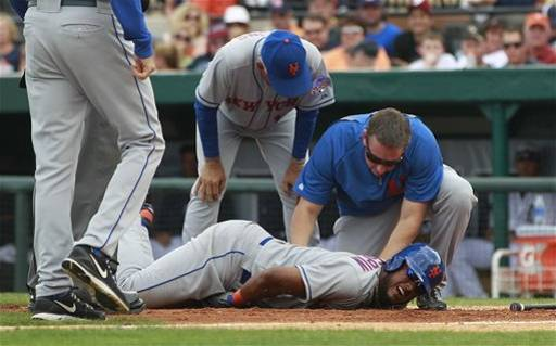 Jordany Valdespin ... Ouch. (AP)