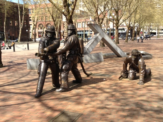 Firefighters memorial, Pioneer Square, Seattle